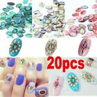 DIY Colorful Glitter 20pcs Nail Art Acrylic Shell Pattern Decoration Jewelry CHI