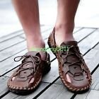 Mens Close Toe Summer Casual Lace Up Sand Beach Roma Sandals Slippers loafers