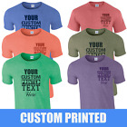 Personalised Printed Stag T-Shirts, Your Own Text or Blank Heather T-Shirts
