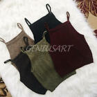New Fashion Women Knitted Sleeveless Crop Top Summer Hot Vest Blouses