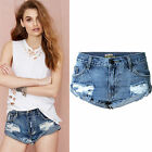 Sexy Women Vintage Ripped Frayed Denim Jeans Shorts Ladies Summer Beach Hotpants