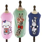 Cartoon Cotton Dog Pet Shirt Pet Cat Shirt Clothing for Pet XS S M L XL