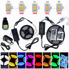 5M 16.4ft SMD 3528 5050 5630 300LEDs RGB White LED Strip Light 12V Power Supply