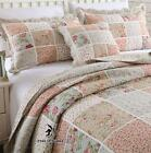 Shabby Chic Cottage Country Floral Quilt Throw Blanket Coverlet Bedspread Set P