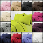 Plain Duvet Cover with Pillow Case Quilt Cover Bed Set Single Double King S KING