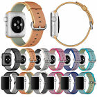 Royal Woven Nylon Sport Bracelet Wristwatch Strap For Apple Watch Band 38mm 42mm