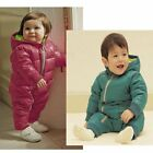 Baby Boy Girl Winter Warm Padded Snowsuits Jacket Coat Outerwear Clothes 0 1 2