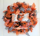 Baltimore Orioles Baseball Mesh Ruffle Wreath, License Plate CHOICE