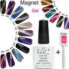 Free Magnetic CatEye Gel Nails Soak off uv Gel Polish Manicure Nail Varnish 10ml