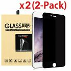 2-Pack Privacy Anti-Spy Tempered Glass Screen Protector for iPhone 5 6 7 8 Plus