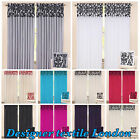 Damask Flock Pencil Pleat/Tape Top Window Curtain Fully Lined with free Tie back