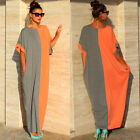 Women's Summer Boho Cotton Long Maxi Evening Party Dress Beach Dresses Sundress