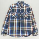 Addict New Long Sleeve Standard Check Shirt Blue size S
