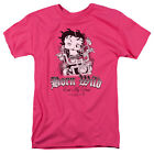 Betty Boop Born Wild Bike Eat My Dust Pink Adult T-Shirt - (Large) $18.64 CAD