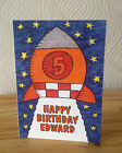 Personalised Happy birthday card rocket space Any age New A5 free p+p