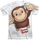 Curious George HANDS IN THE AIR 1-Sided Sublimated Big Print Poly T-Shirt