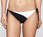 costume-swimwear CALVIN KLEIN - KW0KW00032 Cheeky String Side Tie - nero/bianco