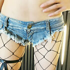 Super Short Women Girl Mini Jeans Shorts Pants Trousers Denim Low Waist Rough Eg