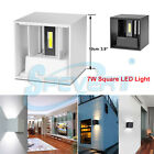 In / Outdoor 7W LED Wall Light Up Down Cube Sconce Home Hall Lamp Lighting