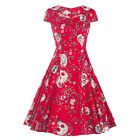 Women Vintage 1950s Party Prom Housewife Dress Party Prom Dress Rock Check Swing