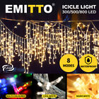 800+LED+Xmas+Icicle+Curtain+Lights+Indoor%2FOutdoor+Christmas+Colour+Wedding+Party