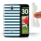 Personalized Custom Stripes/Striped Case for LG G Pro Lite/D680/Gel Cover