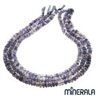 [1+1 AT 30% OFF] NATURAL IOLITE GEMSTONE FACETED RONDEL 6mm BEADS 14'' STRAND