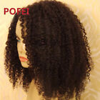 Afro Kinky Curly 100% Brazilian Human Hair Glueless Full Lace Wig/Lace Front Wig