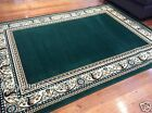 Floor Rug Green Traditional Classic Designer 3 Sizes Available FREE DELIVERY