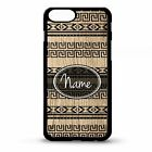 African tribal geometric retro print pattern personalised name phone case cover