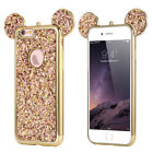 For iPhone 6s 7 Plus Cute Bling Rubber Case Soft TPU Hybrid Silicone Back Cover