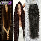 "16-24""Afro Kinky Curly Hair 100s Hair Micro Link Human Hair Extensions 70g HOT:)"