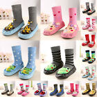 Fad Baby Toddler Boy Girl Cartoon Anti-Slip Shoes Boot Slippers Socks 0-39 Month
