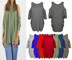 New with Tag Ladies Girls Women's Cut Shoulder Baggy Top Shirt Dress