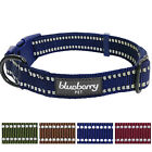 Blueberry Pet 3M Reflective Adjustable Classic Solid Color Dog Collar