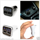 Universal 4.8A Dual USB Ports Quick Car Charger Adapter With LED Voltage Display