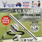 New 1-1.5-2-3HP Deep Well 240V Stainless Steel Submersible Bore Water Pump Depth