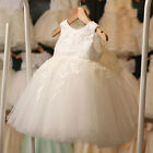 Baby Girl White First Communion Dresses Tulle Lace Toddler Pageant Flower Dress