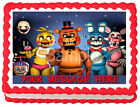 FIVE NIGHTS AT FREDDY'S Image Edible Cake topper Party decoration