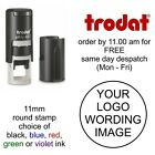 Trodat 4612 10mm Round Personalised Self Inking Stamp rubber stamp logo loyalty