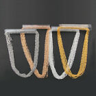 Внешний вид - 10pcs Waves Alloy Lobster Clasp Chains DIY Necklace Jewelry Making 4 colors17''
