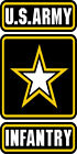Us Army Infantry Vinyl Decal Sticker Army Strong