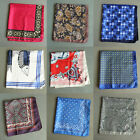 New 55CM Mens Handkerchief  Silk Floral Print Wedding Party Large Pocket Square