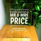 Wedding day gift engraved plaque - personalised Mr & Mrs, wife, husband