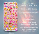 Girly Pink Emojis Slim Clear Case Cover Skin for iPhone 5 5s 5c SE 6 6s 7 Plus