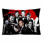 JAMES BOND ALL ACTORS Throw Zippered Pillow Case 16x24, 18x26 Cushion Cover $22.74 CAD