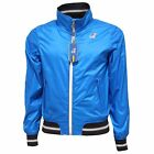 3096Q giubbotto uomo bluette K-WAY TORNADO slim fit jacket men blu