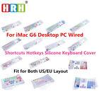 English Shortcuts Keyboard cover For iMac G6 with Numeric Keypad A1243 MB110LL/B