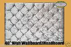 "New On Ebay Modern Stylish Colchester Crush Velvet Diamonte Headboard 40"" High"