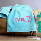 Yoga Time Personalised Sports Gym Towel, Add a Name or Initials